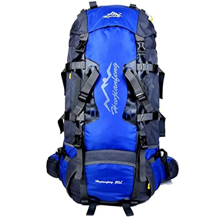 bc6e7a1a5eae 80 Liter Large Capacity Tourist Travel Outdoor Mountaineering Hiking Unisex  Black Waterproof Trekking Camping Bag For