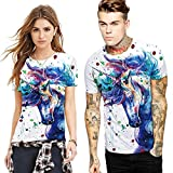 AHADOP Unicorn His & Hers T-Shirt Couples Matching Shirts