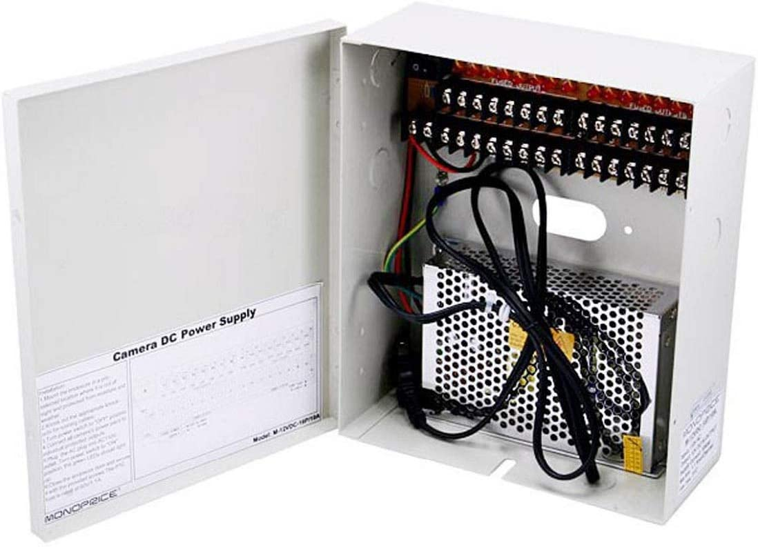 18CH Security Camera Power Supply Switch Box 12V 10//20A CCTV Distribution LOT MX