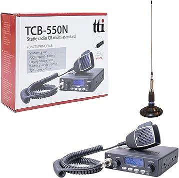 IT Tti tti de pack21.CB TCB de 550.emisoras de Radio Kit con magnético pn1.ml160.Antena