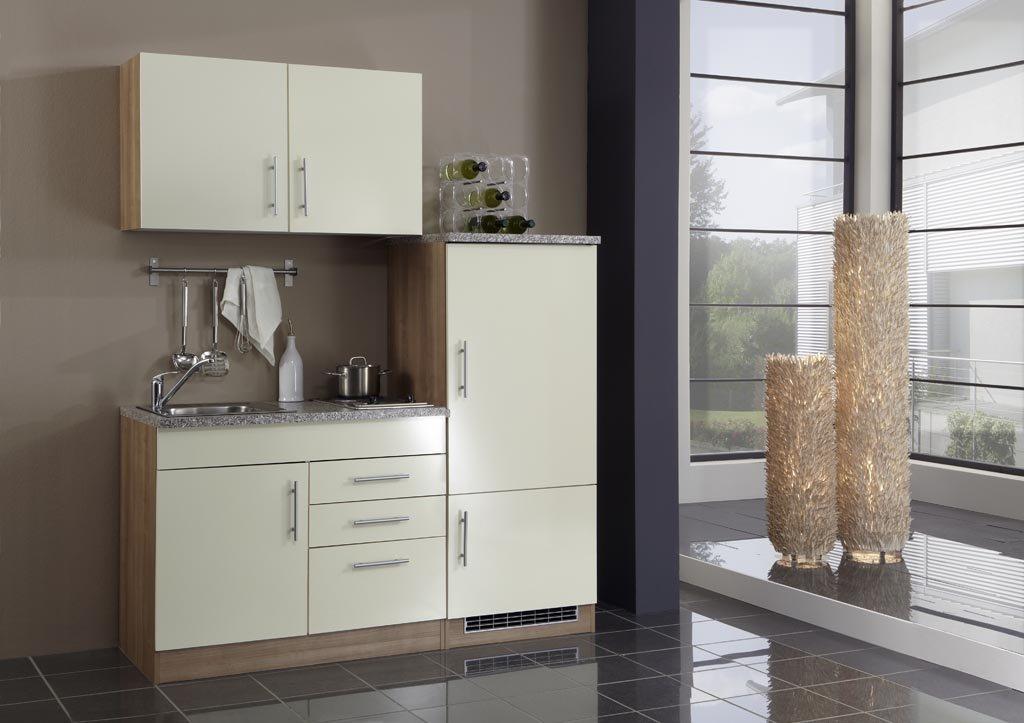 held m bel single k che 160 mit 2 er glaskeramikkochfeld und k hlschrank mit. Black Bedroom Furniture Sets. Home Design Ideas