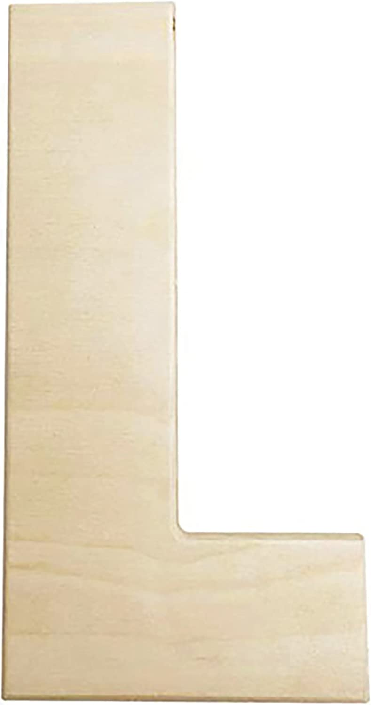 12 in Darice U0993-E Bold Solid Wood Letter Capital E