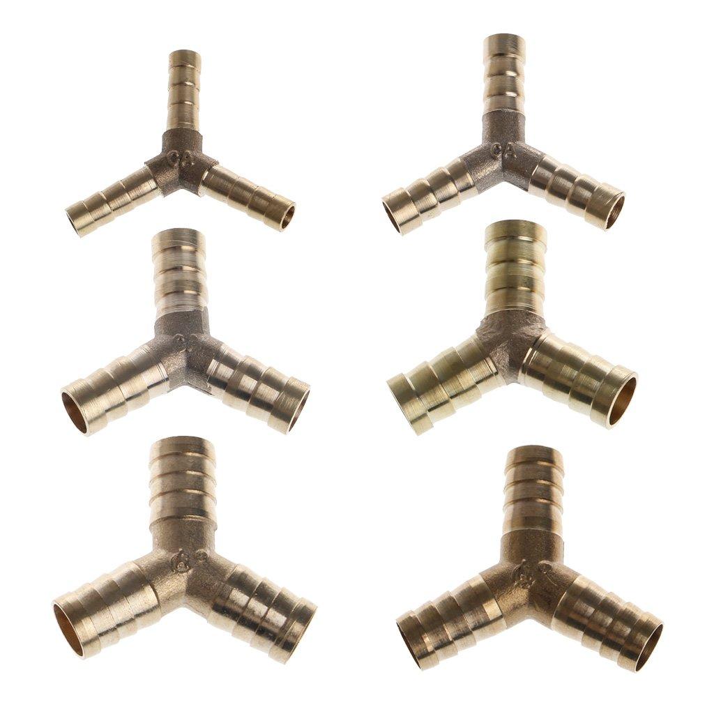 6-16mm 6mm Connecteur Adaptateur de 3 Voies Adaptateur pour lHuile de Gaz dAir dEssence Manyo Connecteur de Tuyau de Carburant en Y