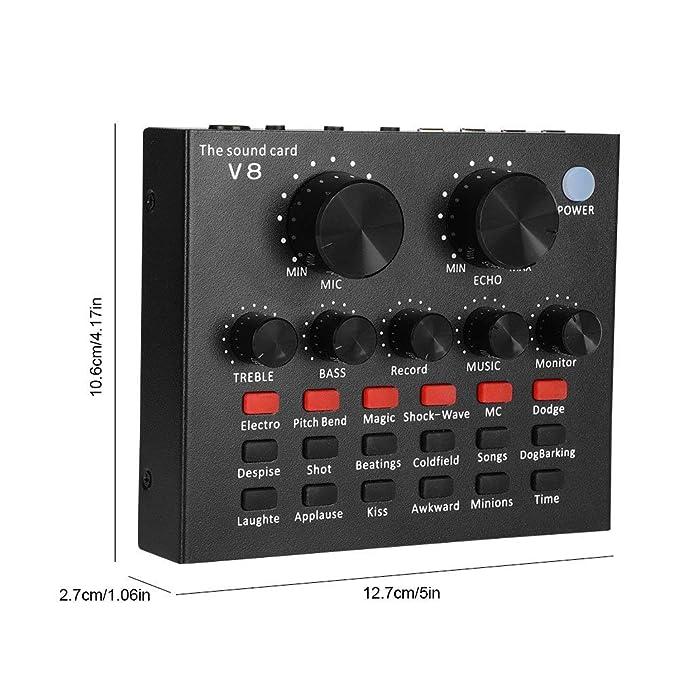 Tarjeta de sonido, Femate tarjeta de sonido V8 Live con mezclador ...