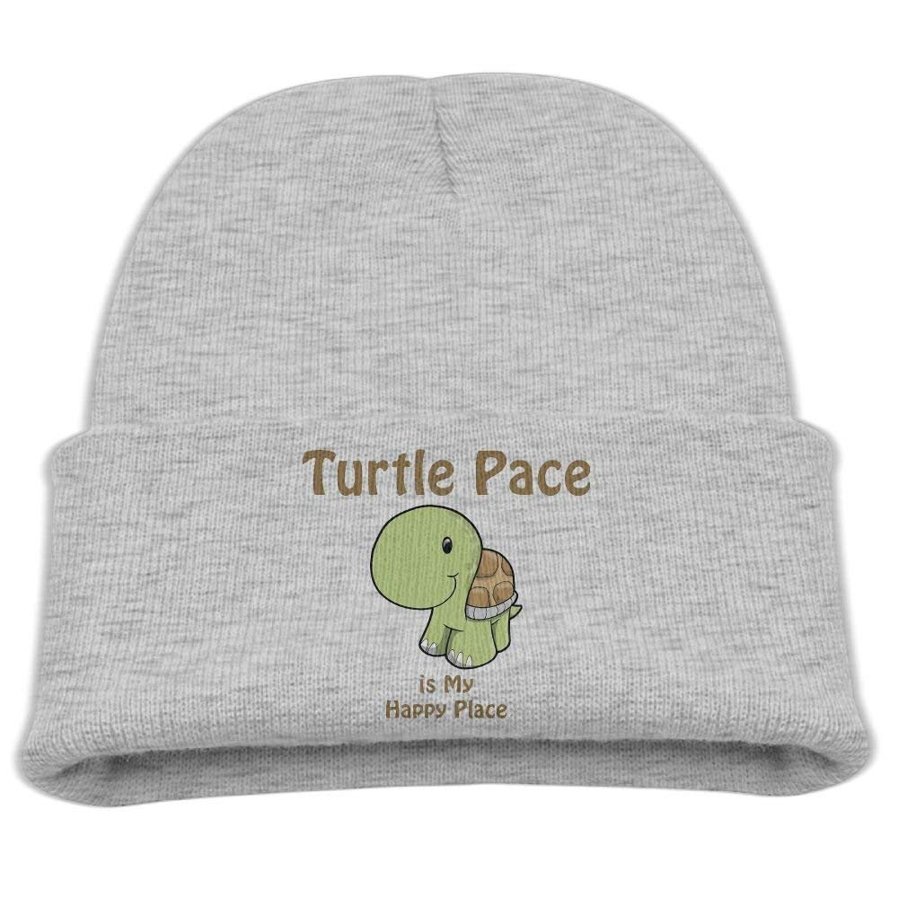 WYICPLO Fashion Funny cap Hat Turtle Pace Is My Happy Place Unisex Slouchy Beanie Black