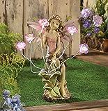 Cheap Fairy Garden Solar Statues Concrete Sculptures Outdoor Decor Resin Disney Angel Lawn Yard Patio Ornament