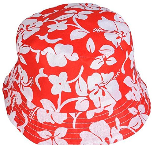 "21"" HIBISCUS PRINT BUCKET HAT, Case of 144 by DollarItemDirect"