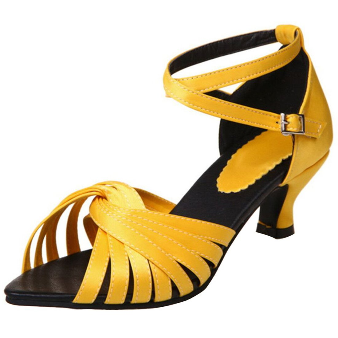 926ef9782ee Artfaerie Women s Kitten Heels Ankle Strap Sandals Latin Dance Dance Dance Court  Shoes 12.5 B(M) US