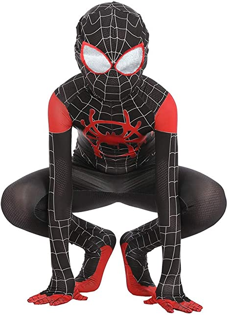 TOYSSKYR Costumi Elastici per Costumi di Halloween con Tuta Elasticizzata New Age Spider-Man Colore : Nero, Dimensioni : S.