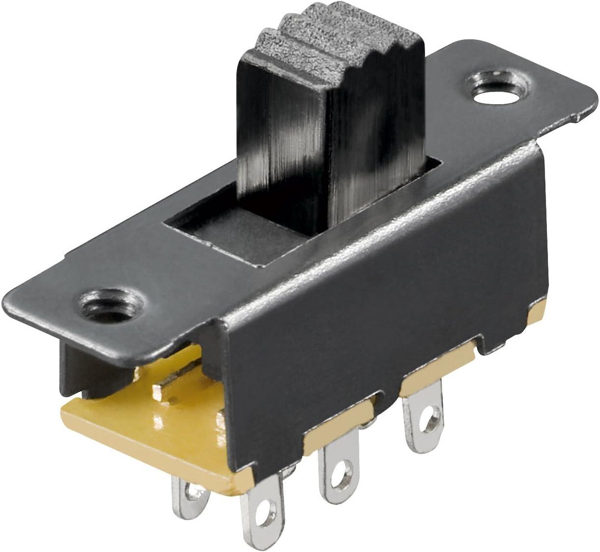 MANAX Lot de 20 interrupteurs coulissants 6 Broches 2 x UM 19 mm
