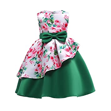 Kid Baby Flower Girl Party Lace Wedding Bridesmaid Maxi Prom Irregular Hem Dress