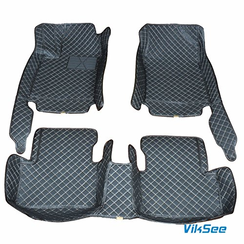 Viksee 3pcs Black Car Floor Mats Front & Rear Carpet Liner Mat For 2014-2016 Nissan X-trail