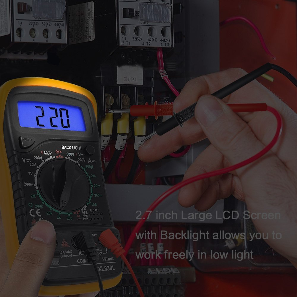 Digital Multimeter Lcd Electrical Test Meter Volt Ammeter Ohm Ac Dc Circuit Battery Multi Tester Checker