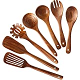 Wooden Kitchen Utensils set,NAYAHOSE Wooden Spoons for cooking Natural Teak Wood Kitchen Spatula Set for Cooking…