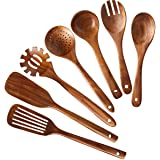 Wooden Kitchen Utensils set,NAYAHOSE Wooden Spoons for cooking Natural Teak Wood Kitchen Spatula Set for Cooking including Sp