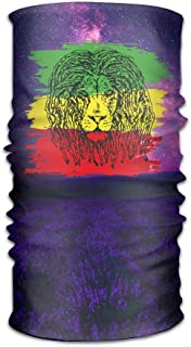jiilwkie Reggae Rasta Flag Lion Unisex Sport Scarf Headbands Bandana Outdoor Sweatband Headwear