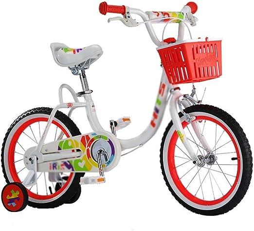 KXBYMX Bicicleta Infantil Bicicleta para niños Princess Bicicleta para niños Bicicleta Infantil de 16 Pulgadas con estabilizador y Cesta Bicicleta Estilo Libre niño niña (Color : B): Amazon.es: Hogar
