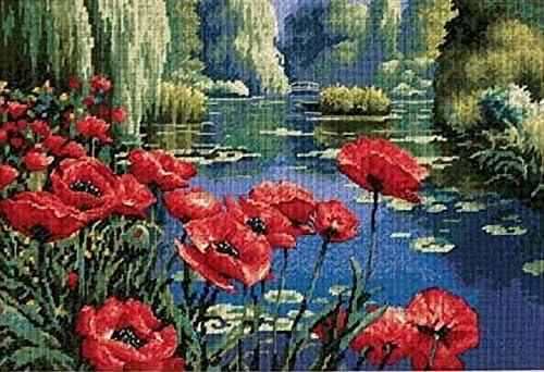 Lakeside Poppies DIMENSIONS Needlepoint Kit 16 x 11