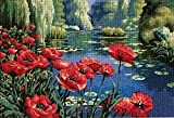 Dimensions Needlecrafts Needlepoint, Lakeside Poppies