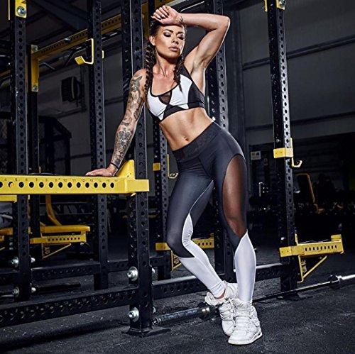 KEERADS Sport BH Set,BH Top + Hose, Yoga Jogging Outdoor-Sport Schwarz