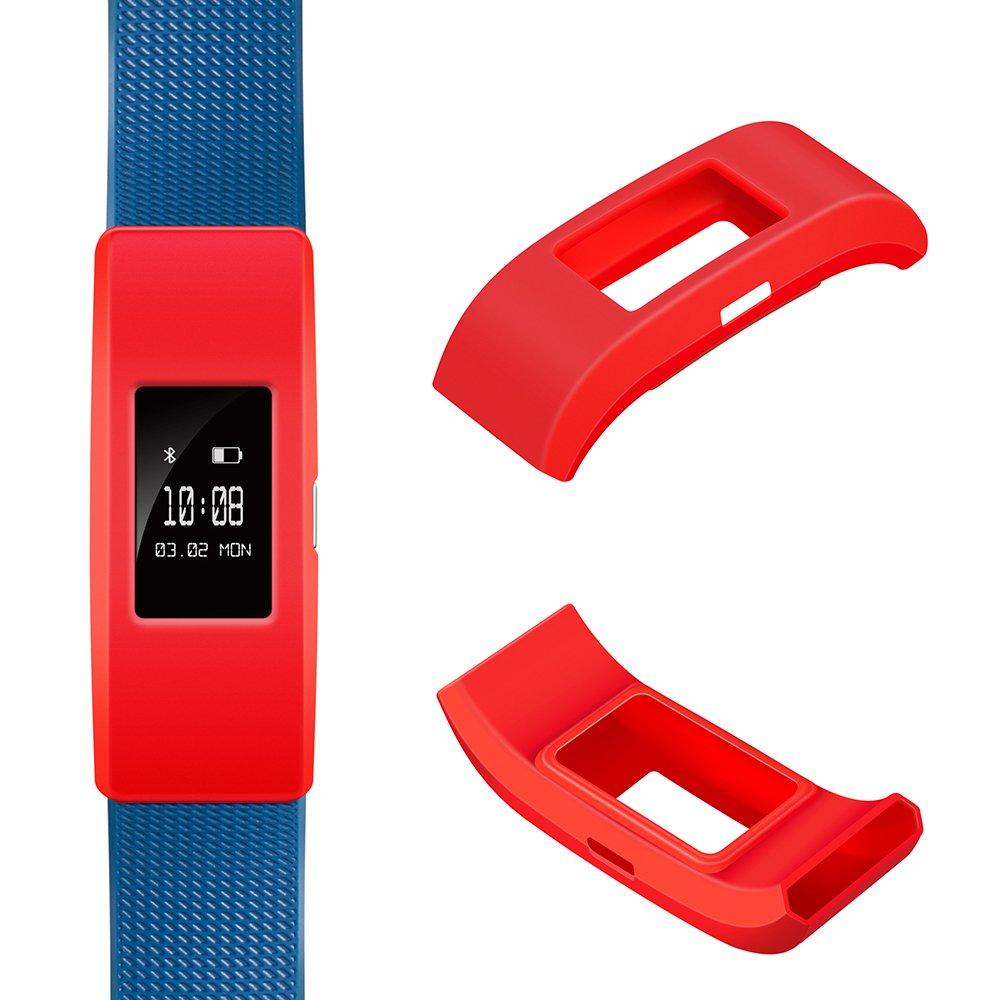 Groupe Housse de protection pour Fitbit Charge 2–Ifeeker souple en silicone Sleeve Fitness Band Housse Coque de protection Accessoires pour 2016Fitbit Charge 2de la fréquence cardiaque et de fitness Bracelet (NO tracker, aucun groupe) Red