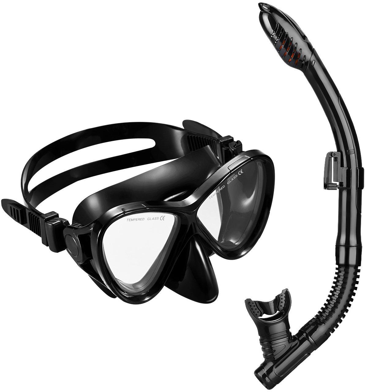 Gafas y Tubo de Buceo de OMorc Top Set de Snorkel con