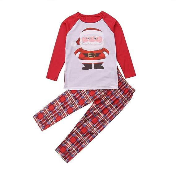 2a62da033072 Family Matching Christmas Pajamas Stripes Deer and Santa Claus ...
