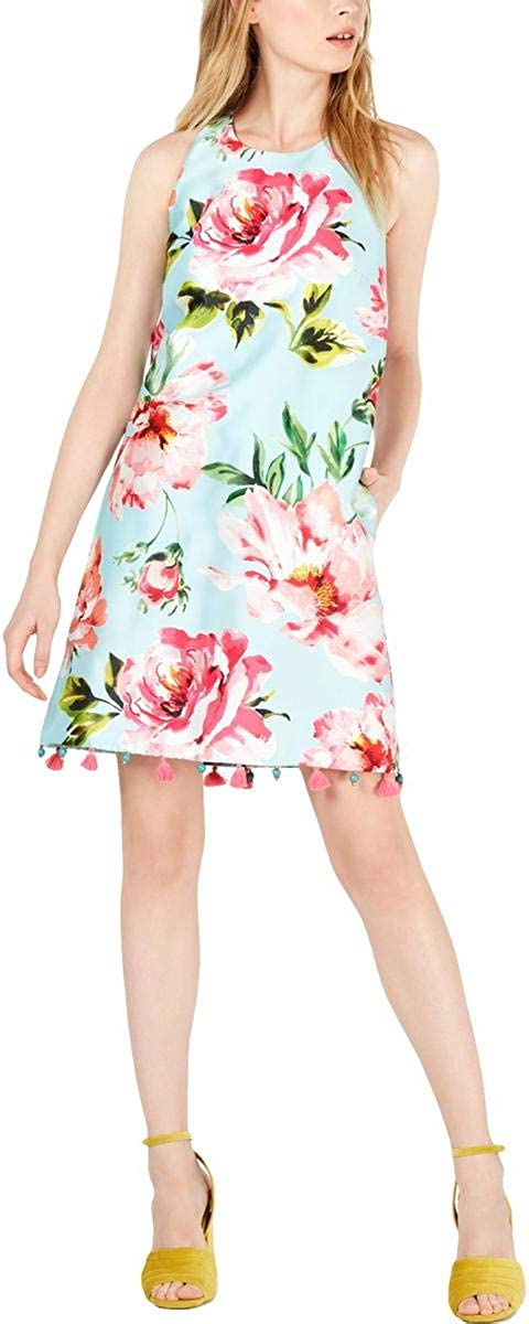 Laundry by Shelli Segal Women's Sleeveless Floral Pom Dress