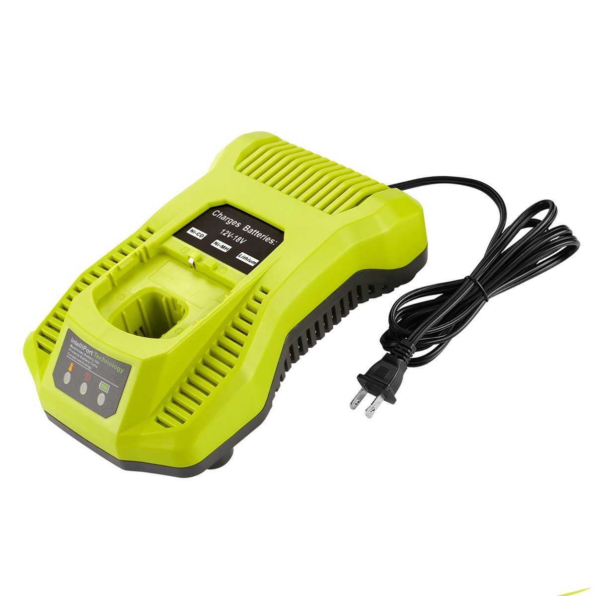 YABELLE P117 Dual Chemistry IntelliPort Charger for All Ryobi 12V-18V ONE+ Lithium Battery & NiCad NIMH Battery US Plug (Battery Not Included, Charger Only)