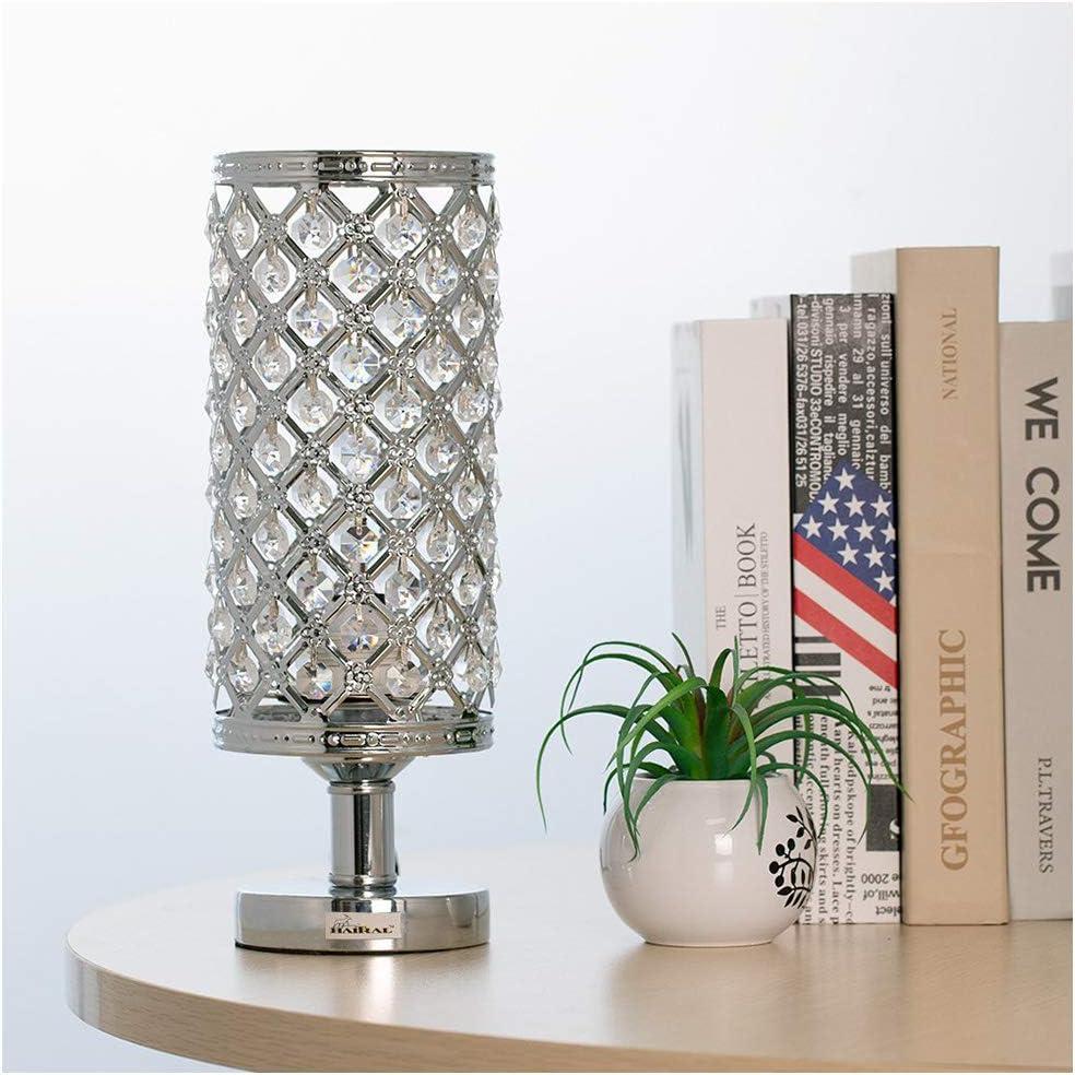TIM LI Crystal Bedside Table Lamp, Elegant Design Crystal