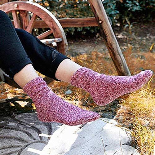 Womens Cashmere Socks Vintage Soft Comfort Thick Cold Weather Winter Warm Knit Wool Casual Sports Socks