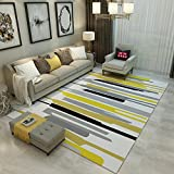 Geometry Home Rugs 47 X 63 Inch - MeMoreCool Various Patterns No Fading Anti-slipping Simple Style Living Room Tea Table Carpets