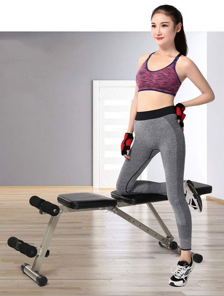 Bancos ajustables Heavy Duty Fitness Plegable Banco de pesas ajustable, entrenamiento en casa Gimnasio Levantamiento de pesas Bancos de abdominales, ...