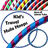 Flames N Games Kids Hoops KID's HULA HOOPS -Quality Weighted Children's Hula Hoops! Great For Exercise, Dance, Fitness & FUN! NO Instructions needed! Same Day Dispatch! (Blue/Purple Glitter)