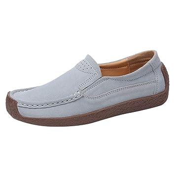 a6c204c7ec18f Amazon.com: Wulofs Women's Flock Ladies Ankle Flat Loafers Slip On ...