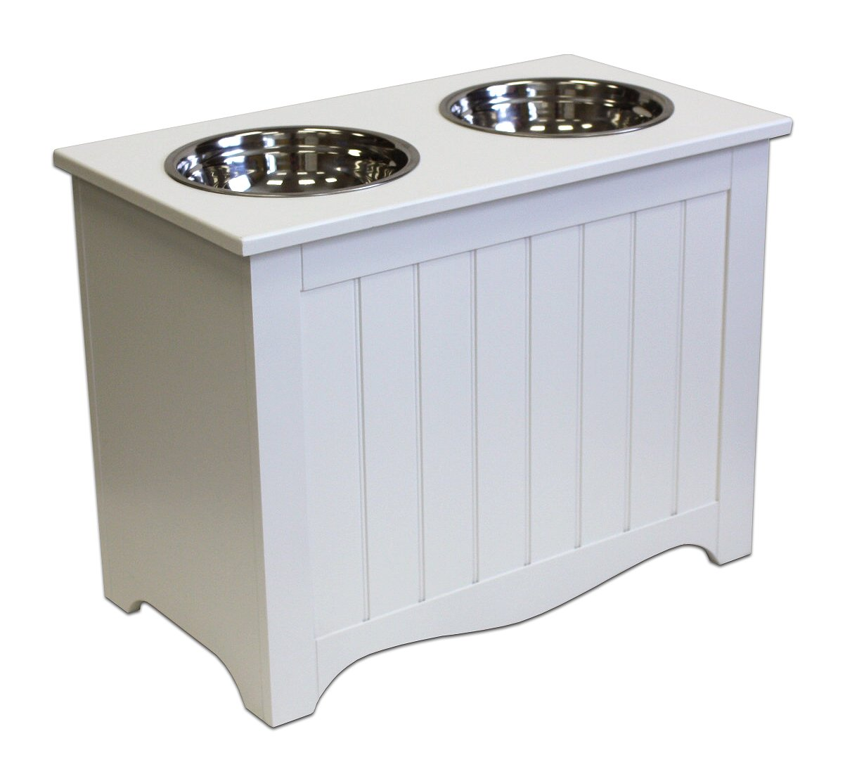 A Pet Project Winter White MDF Large Pet Food Server and Storage Box - 20'' by A Pet Project