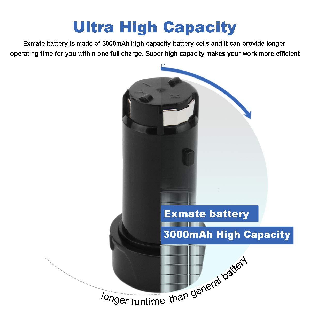 Amazon.com: Exmate - Batería de iones de litio (2 unidades ...
