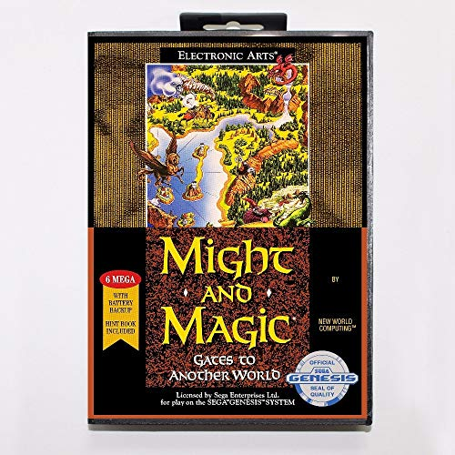 The Crowd Tradensen Might and Magic Ii Gates to Another World Game Cartridge 16 Bit Md Game Card with Retail Box for Sega Mega Drive for Genesis (Might And Magic Ii Gates To Another World)