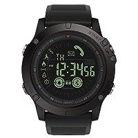 ZXTT Vibe 3 Flagship Rugged Smartwatch 33 Meses de Tiempo de Espera 24h Monitoreo de Todos los Tiempos Smart Watch para iOS y Android (Color : Black)