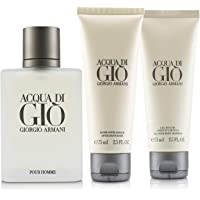 Giorgio Armani Acqua Di Gio Coffret: Eau De Toilette Spray 100ml + All Over Bod Shampoo 75ml + After Shave Balm 75ml 3pcs