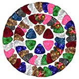 Tune Guitar Picks | 100pcs Uniquely Shaped Various Colored Guitar Picks | 3 Gauges Thin Medium Heavy for Acoustic Electric Bass Instruments | Celluloid Finish Classic Standard Design | 1455.1