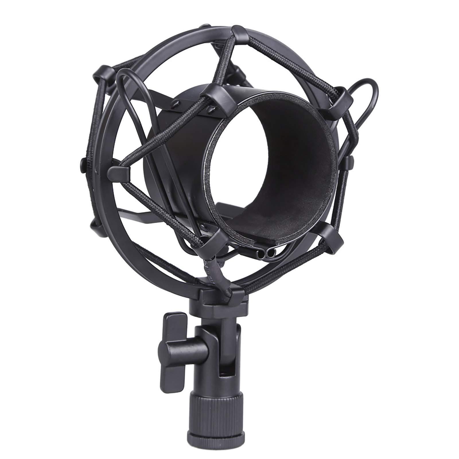 Koolertron Universal 50MM Microphone Shock Mount for 48MM-54mm Diameter Condenser Mic (Black)