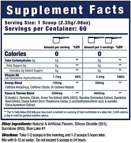 Musclewerks D-Fine8 - Fat Burner Thermogenic, Pre Workout Powder, Appetite Suppressant, Energy & Weight Loss Supplement for Men & Women - 60 Servings Vegan Friendly (Bada Bing Cherry) 7