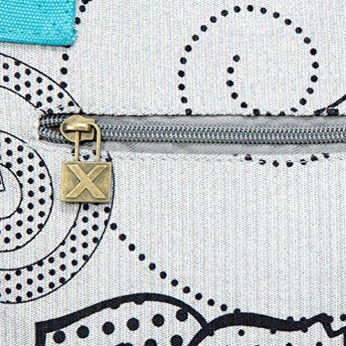Chang Spent bolso grande del bolso del bolso de la lona de la moda retro de las mujeres , a a