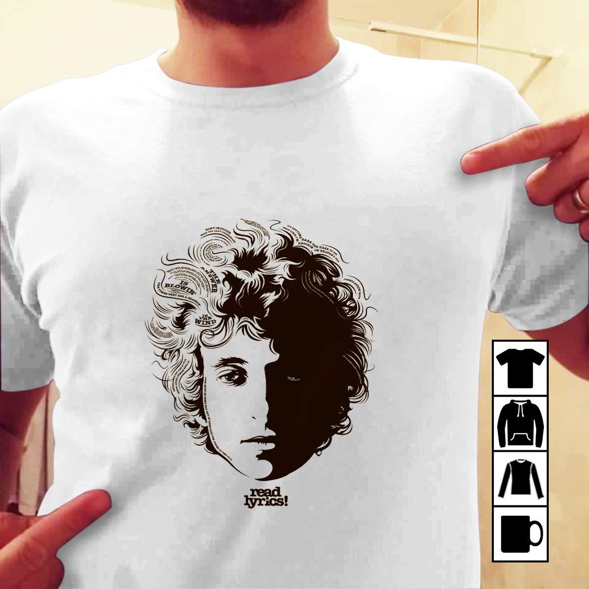 Amazon com: Bob Dylan Tour Music READ LYRICS T-Shirt Long