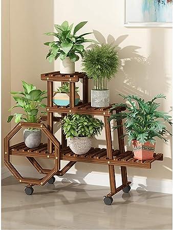 Soporte de flores Estantes de exhibición de soporte de plantas de varias capas extraíbles con jardín