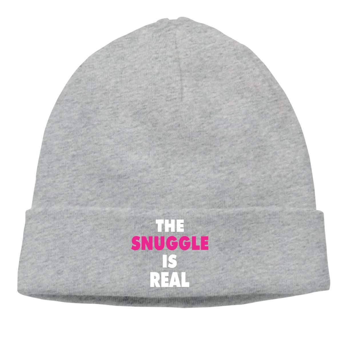 The Snuggle is Real 1 Knit Caps Beanie Skull for Mens Gray