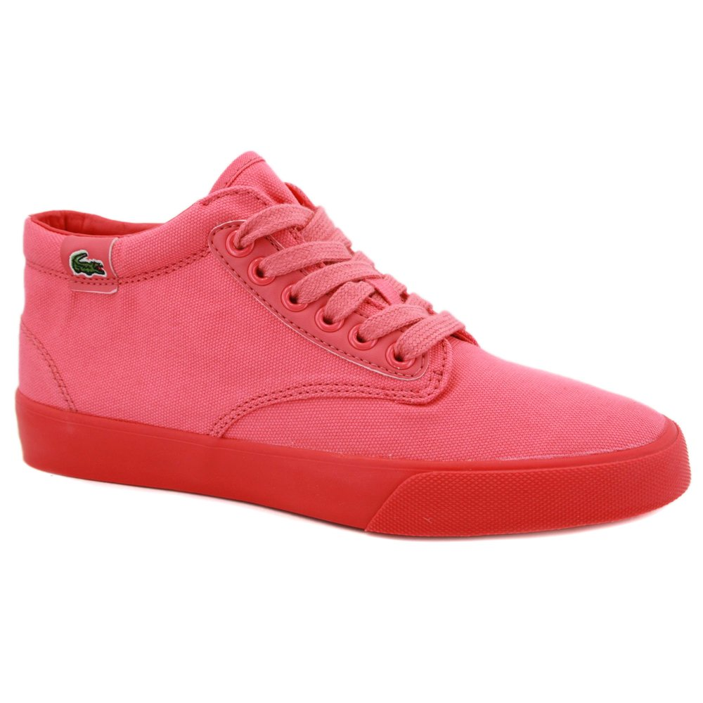 cb84fc8b1ccb Lacoste L!ve Barbados Mid SS Womens Laced Canvas Mid Trainers Pink - 6   Amazon.co.uk  Shoes   Bags