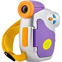 LEDMOMO AMKOVC7 Nuevo Mini Kids Cute Cámaras Digital de 1.3MP Pantalla en Color DE 1.5 Pulgadas 1080P Video CAM de Alta definición de Red de cámaras para niños niñas sin baterías (Púrpura)