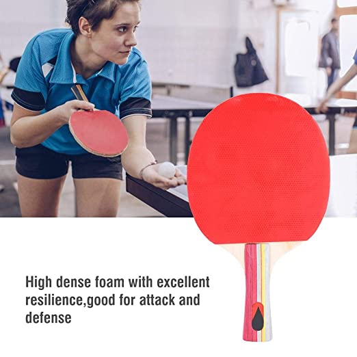 Amazon.com : Vbestlife Table Tennis Paddle - 2pc Professional Table Tennis Racket Ping Pong Hand-Shake Grip Bat with Carry Case : Sports & Outdoors